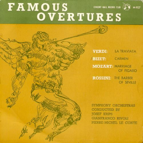 JOSEF KRIPS Famous Overtures EP Vinyl Record 7 Inch Concert Hall 1961